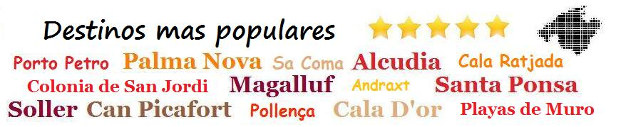 Destinos mas populares en Mallorca